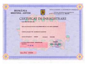 Certificat de Inregistrare - Fibula